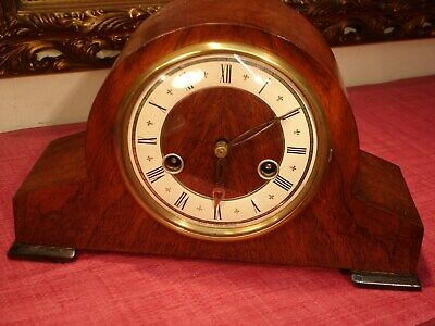 Gorgeous Vintage, English,Mahogany, striking Mantel Clock. superb