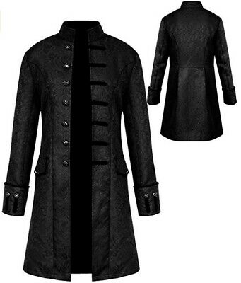 Mens Vintage Tailcoat Jacket Gothic Victorian Costume Small
