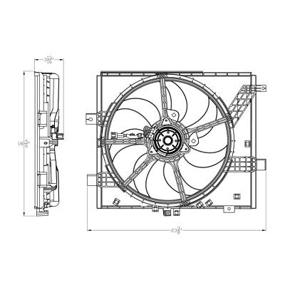 Dual Radiator and Condenser Fan Assembly-Std Trans TYC 623090
