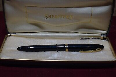 Sheaffers 14k Gold Nib #23  Black + Gold Fountain Pen