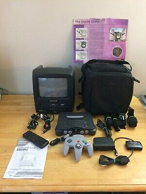 """Sylvania SSC092 9"""" TV-VCR Combo & Nintendo 64 N64 Console Bundle Tested Working!"""