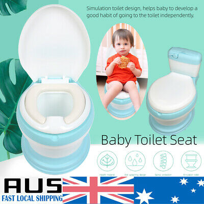 New Kids Training Potty Toilet Safety Baby Trainer Toddler Cute Toilet Chair AU