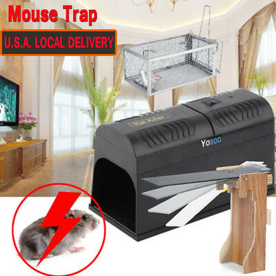 Electronic Mouse Trap Control Rat Killer Pest Electric Zapper Rodent Garden Home
