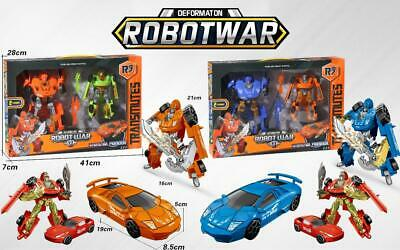 Kids Transforming Robot Car Super Change Towing Vehicle With Light & Sound Toy