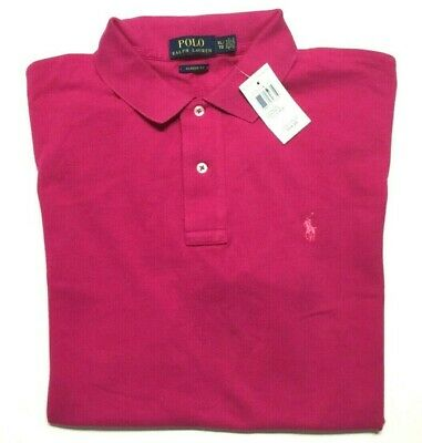 Polo Ralph Lauren Short Sleeve Polo Shirt Men's XL Classic Fit Magenta Pony Logo