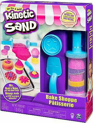 Kinetic Sand Bake Shoppe Playset with 1lb of Sand and 16 Tools and Mold Age 3 up