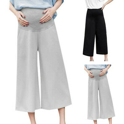 Pregnant WomenS Maternity Calf-Length Pants Pregnancy Casual High Waist Pants