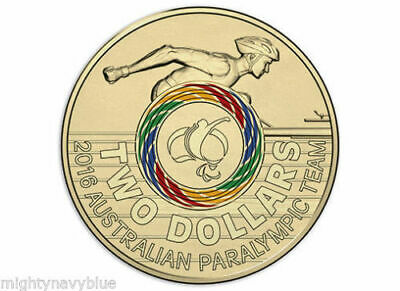 2016 Paralympics Olympic $2 Coin Australian Two Dollars  - Rare - UNC
