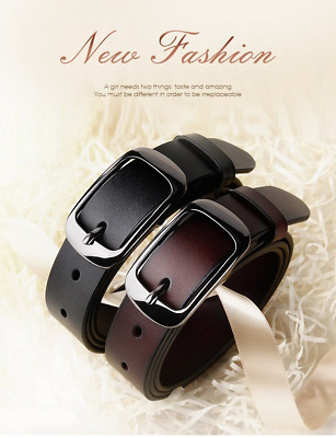 Women's Jean Belt,Classic Oval Buckle Handcrafted Genuine Leather Waistband Belt