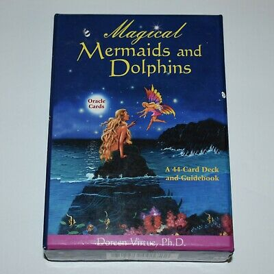 Magical Mermaids and Dolphins by Doreen Virtue Oracle Cards and Guidebook Tarot