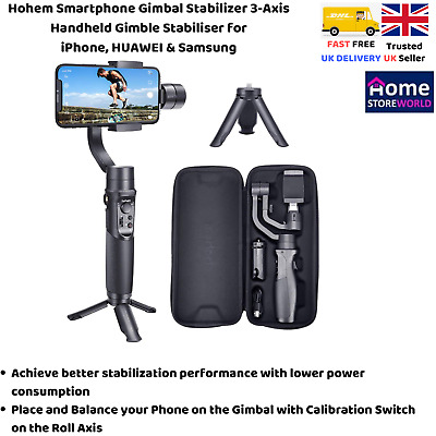 Hohem Smartphone Gimbal Stabilizer 3-Axis Handheld Gimble Stabiliser for iPhone