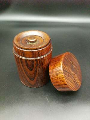 Japanese Tea Caddy  laquer wood container (02)