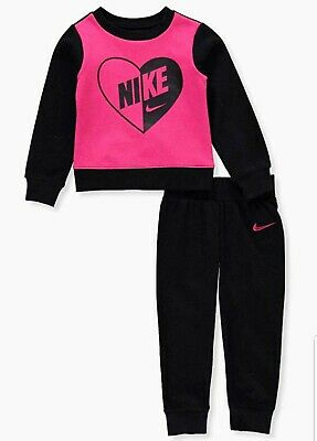 Nike Air Girls 2 PC Set Sweatsuit Outfit Size 4
