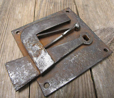 Antique Georgian / Victorian Wrought Iron Door Latch / Lock