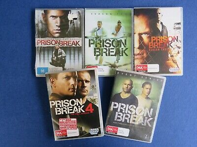 Prison Break Complete Season 1 - 4 + Event Series Wentworth Miller Dominic Dvd