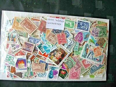 Special Offer, 1000 World Stamps, Unsorted Off Paper ,