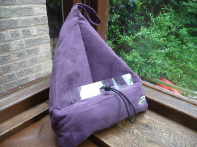 the  bookseat    book  rest  purple  faux  suade  with  phone  pocket