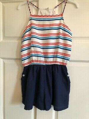 Marks and Spencer Striped Shorts Jumpsuit Girls Age 10-11 years