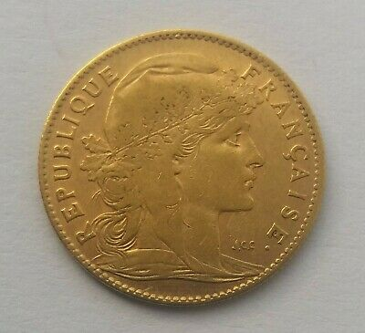 1907 Marianne 10 French Francs Gold Coin