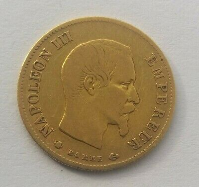1859 Napoleon III French 10 Francs Gold Coin.