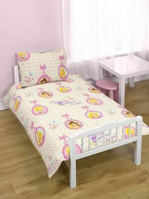 Disney Princess Locket Junior Toddler Cot Bed Bundle, Inc Duvet, Pillow, Bedding