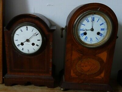 Two Edwardian Wooden Clocks - Spares Or Repair ?