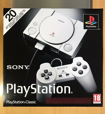 Sony Playstation Classic Mini Console Boxed NEW + 20 games, 2 Controllers, leads