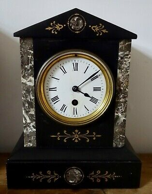 Victorian / Edwardian Marble Inlaid Clock