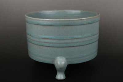 A Fine Collection of Chinese 12thC Song Ru Ware Porcelain Warm Wine Vessel