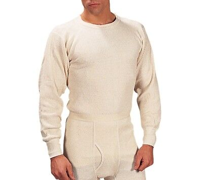 Mens 2 Pc Thermal Underwear Set Long Johns Waffle Knit Top & Bottom ~ Size 3Xl