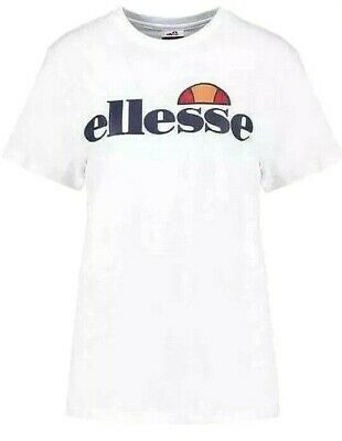 New Womens Ellesse Albany T Shirt White Size L , XL RRP£19.99