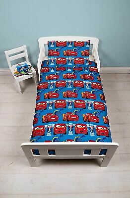 Disney Cars Winner Junior Toddler Cot Bed Bundle, Inc Duvet, Pillow, Bedding