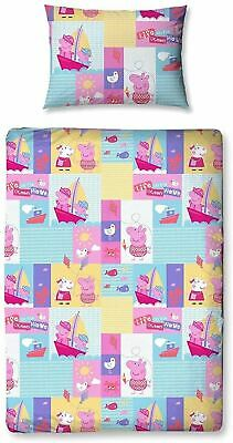 Peppa Pig Nautical Junior Toddler Cot Bed Bundle, Inc Duvet, Pillow, Bedding