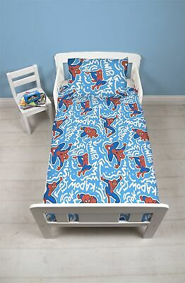 Disney Spiderman Pop Art Junior Toddler Cot Bed Bundle, Duvet, Pillow, Bedding