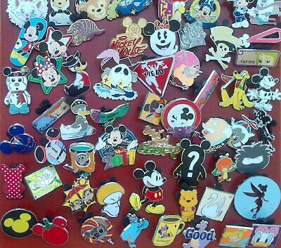 Disney Pin Trading 5 Trader Pin Random Lot w/ Backs Authentic Real No Scrappers