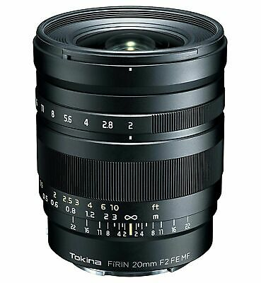 Tokina Lens FiRIN 20 mm F2 FE MF Full Size Manual Focus for Sony aE New in Box