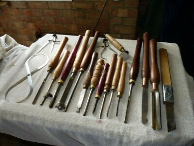 Collection of used wood turning tools various items all in excellent condition