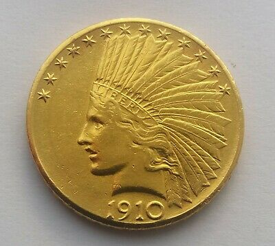 1910 American Gold Eagle $10 Indian Head Coin