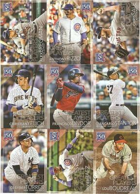 2019 Topps Update 150 Years Of Professional Baseball Inserts ***You Pick***
