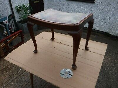 Vintage   Dressing  Table  Stool  With Queen Anne  Legs.  Free  Delivery.