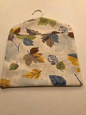 Peg Bag Handmade With Vintage Cath Kidston Woodland Leaves Cotton duck Fabric