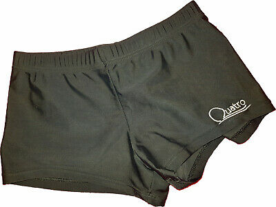 *Girls QUATRO, black gymnastic, sports shorts, size CLA, 30, 2lines*