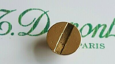 ST DuPont Lighter's Parts  line 1 Small  Gold Bottom Screw Excellent conditi DX5