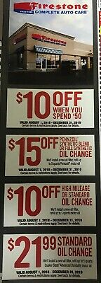 Firestone Complete Auto Care - 4 coupons - savings up to $50 - Expires 12/31/19