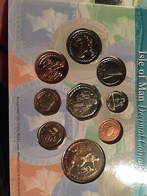 Sporting Change 1996 Isle of Man Coin set. Includes Rare 1996 Large TT 50p