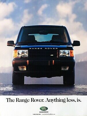 Range Rover Anything Less Is ad poster SUPER RARE 1998 Land Rover advertising