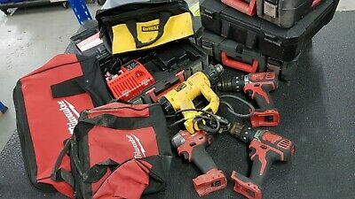 Milwaukee and Dewalt Bag and Spares and Repairs Tools