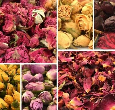 Dried Rose Buds - Rose Petals for Wedding Confetti - Table Confetti 100% Natural
