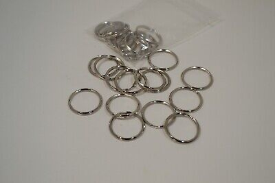 """Key Ring - 1"""" - Nickel Plated - Pack of 12 (F39)"""