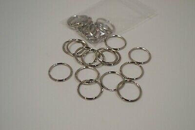 """Key Ring - 1"""" - Nickel Plated - Pack of 50 (F40)"""